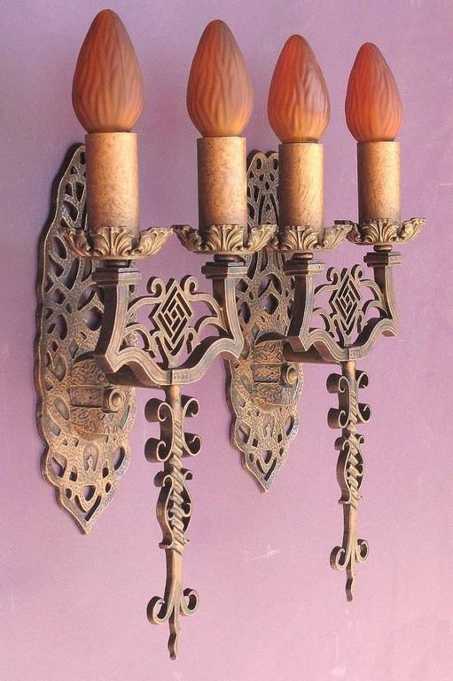 Spanish Revival Sconces, Late 1920s For Sale 2