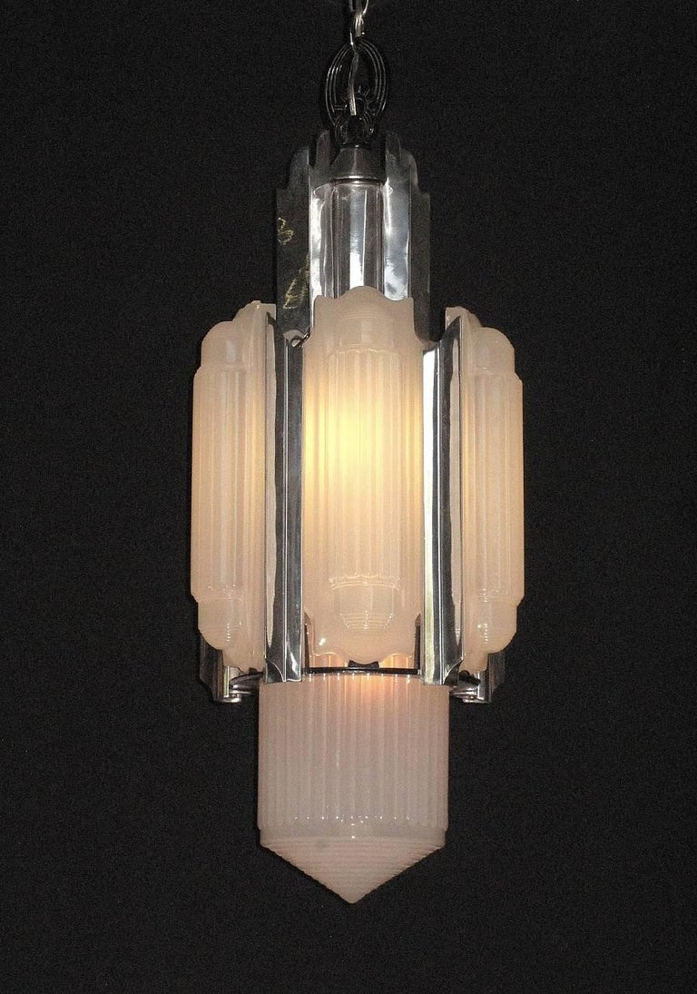 Four Foot Centerpiece Art Deco Rocket Chandelier 1930s