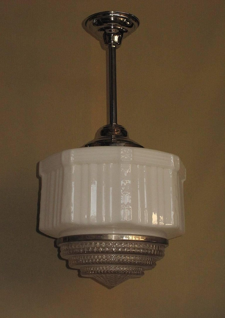 American Classical Large Vintage Schoolhouse Style Electric Fixtures For Sale