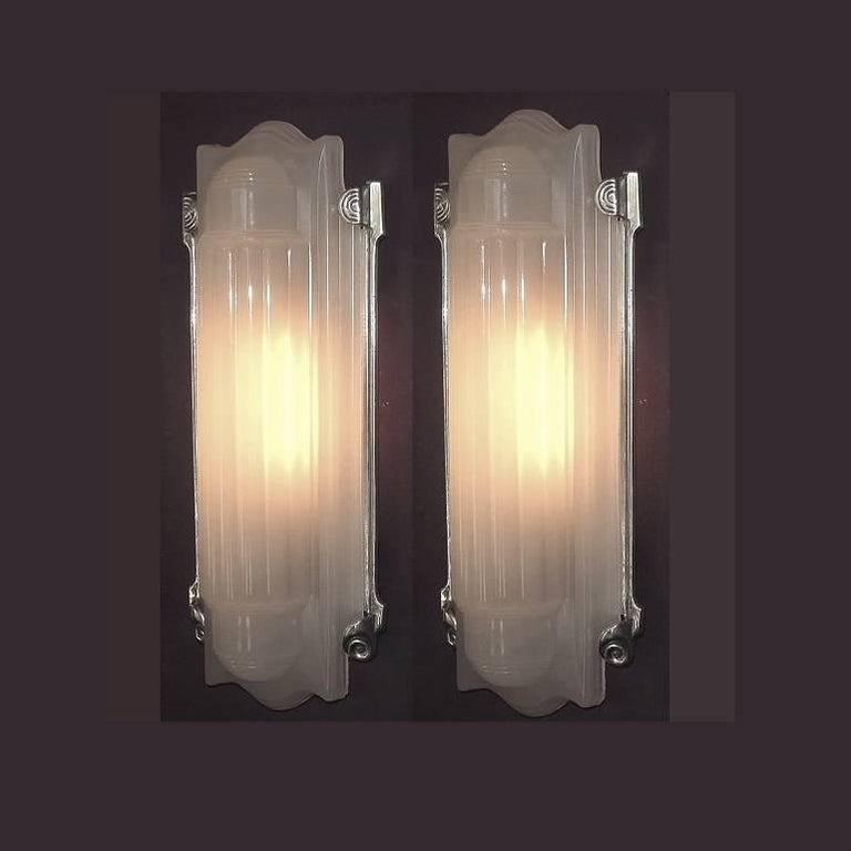 Wall Sconces Home Theater : 5 PAIR Available! Large Elegant Art Deco Wall Sconces Home Theater For Sale at 1stdibs