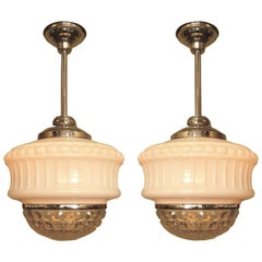 Single Only Large Bank Lobby Fixtures, circa 1920s