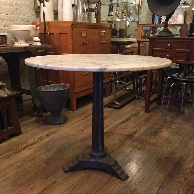 French Marble Art Deco Pedestal Bistro Caf233 Table at 1stdibs : Skyscrapermarbletable3l from www.1stdibs.com size 768 x 768 jpeg 83kB