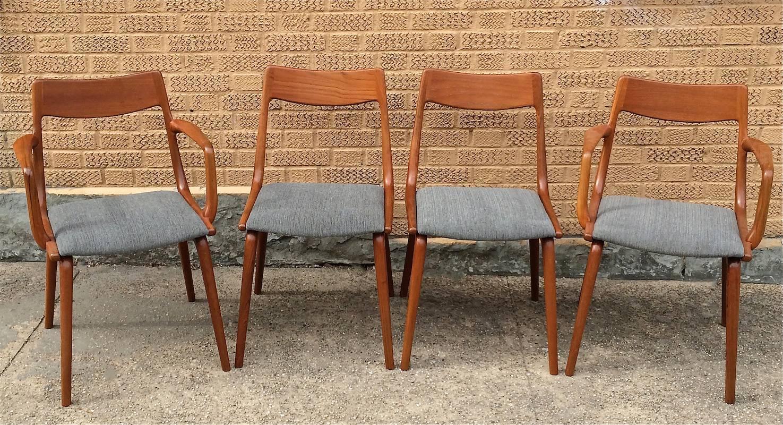 Danish Modern Teak Dining Chairs By Erik Christiansen For