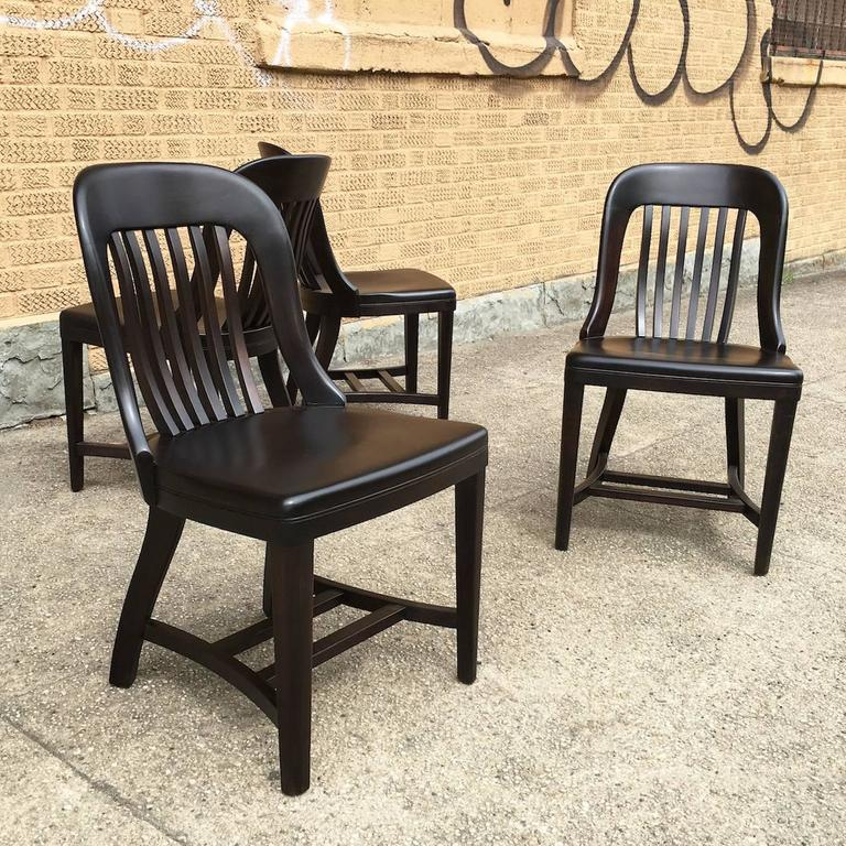 Bank of England courthouse maple side chair by Gunlocke Chair Company is newly & Ebonized Gunlocke Bank of England Side Chair at 1stdibs