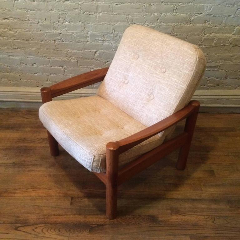 Danish Modern Teak Lounge Chair By Domino Mobler For Sale at 1stdibs