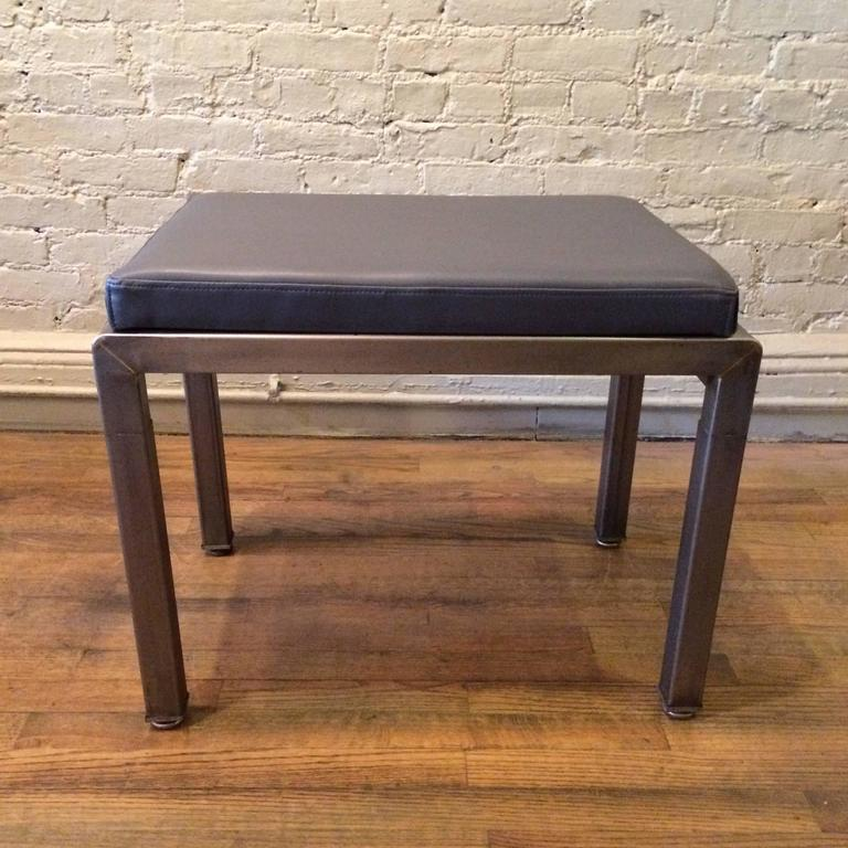 American Pair of Art Deco Ottomans by Norman Bel Geddes for Simmons For Sale