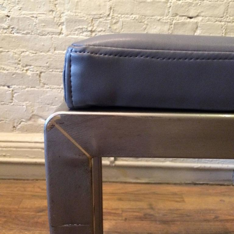 Mid-20th Century Pair of Art Deco Ottomans by Norman Bel Geddes for Simmons For Sale