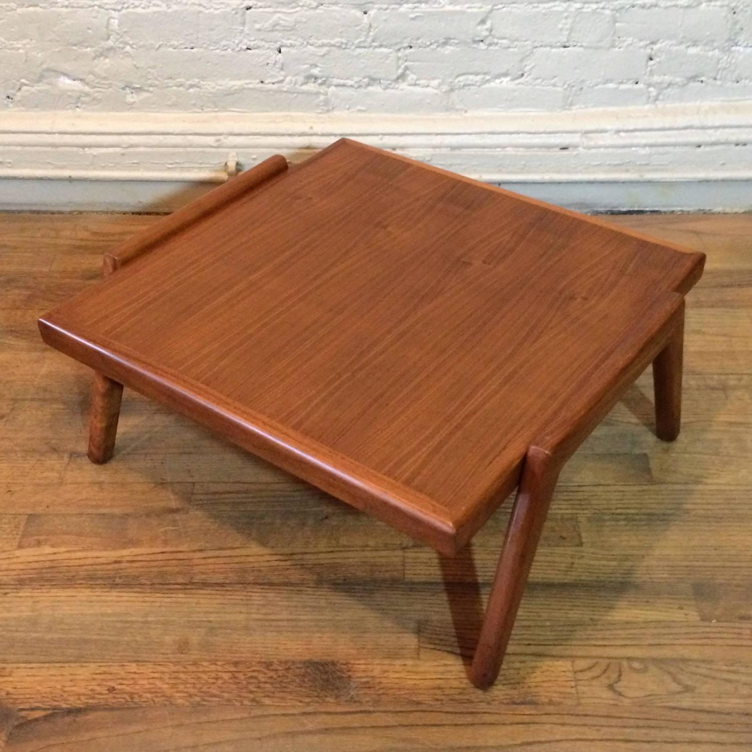 Mid-Century Modern Low Walnut Side Table At 1stdibs