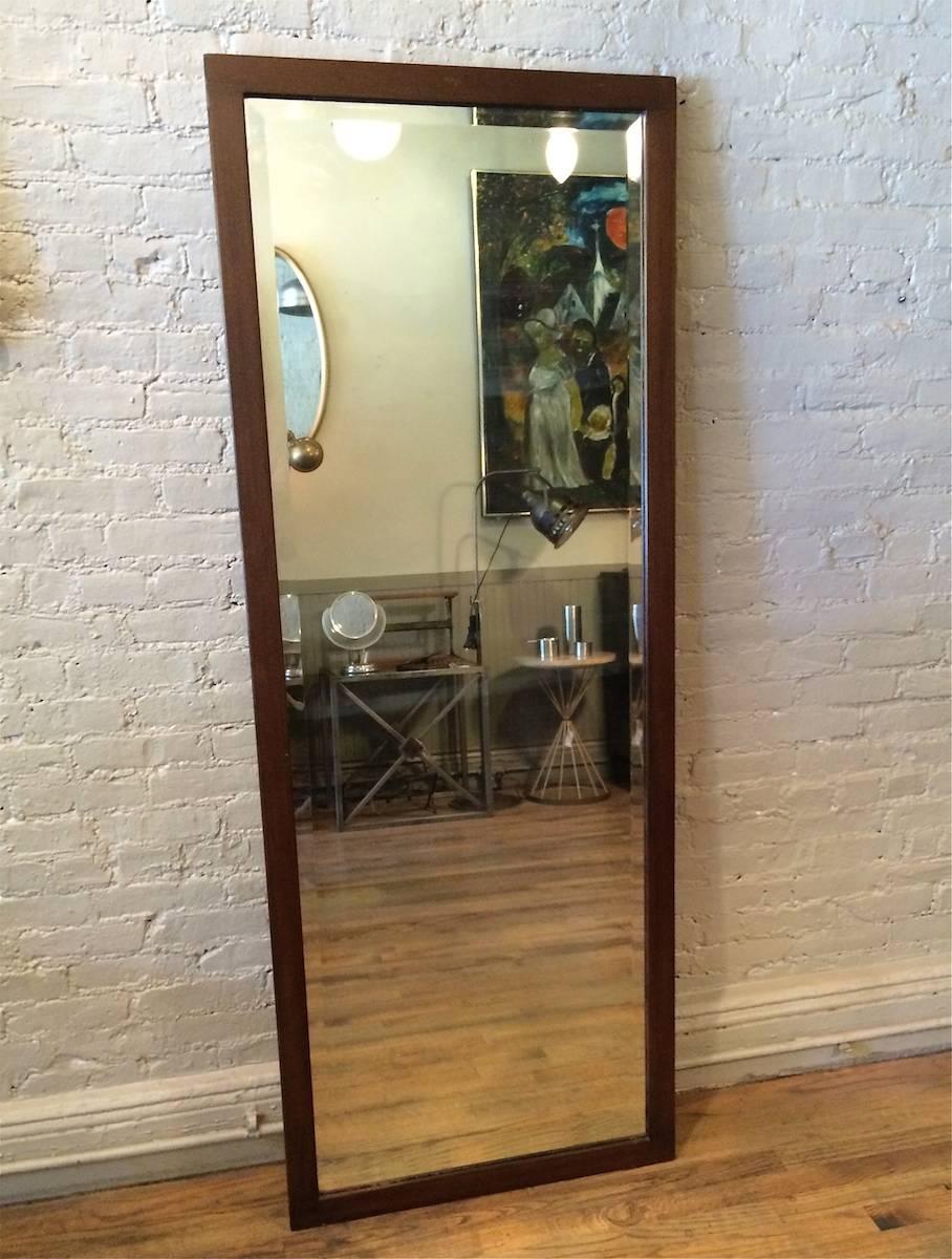 Craftsman oak frame full length beveled mirror for sale at for Full length mirror with mirror frame