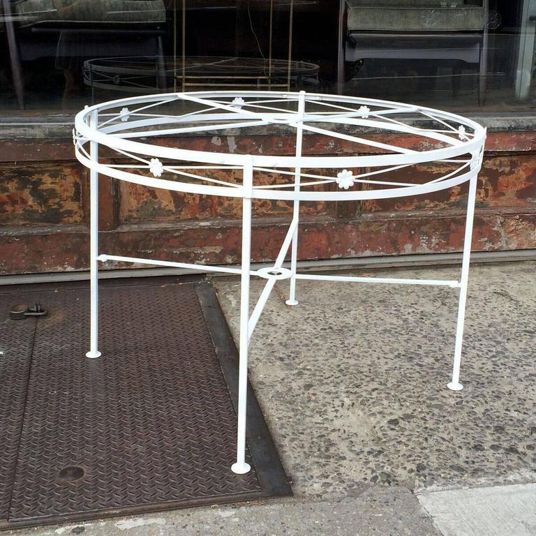 Mid Century Wrought Iron Patio Table At 1stdibs