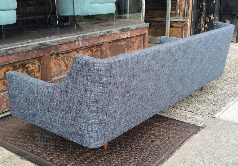 Danish Modern Upholstered Sofa by Selig For Sale 2