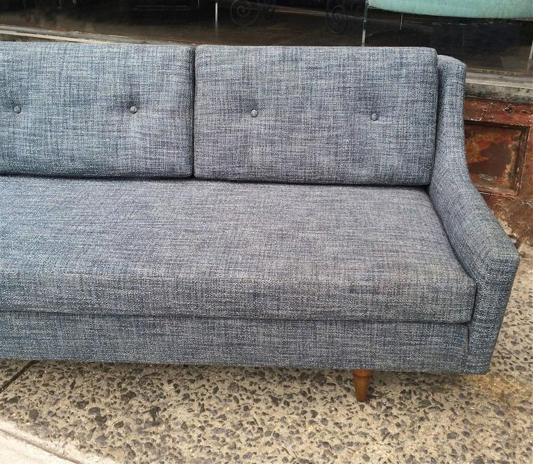 Danish Modern Upholstered Sofa by Selig For Sale 1