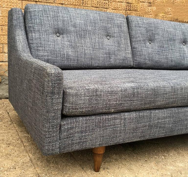 Fabric Danish Modern Upholstered Sofa by Selig For Sale