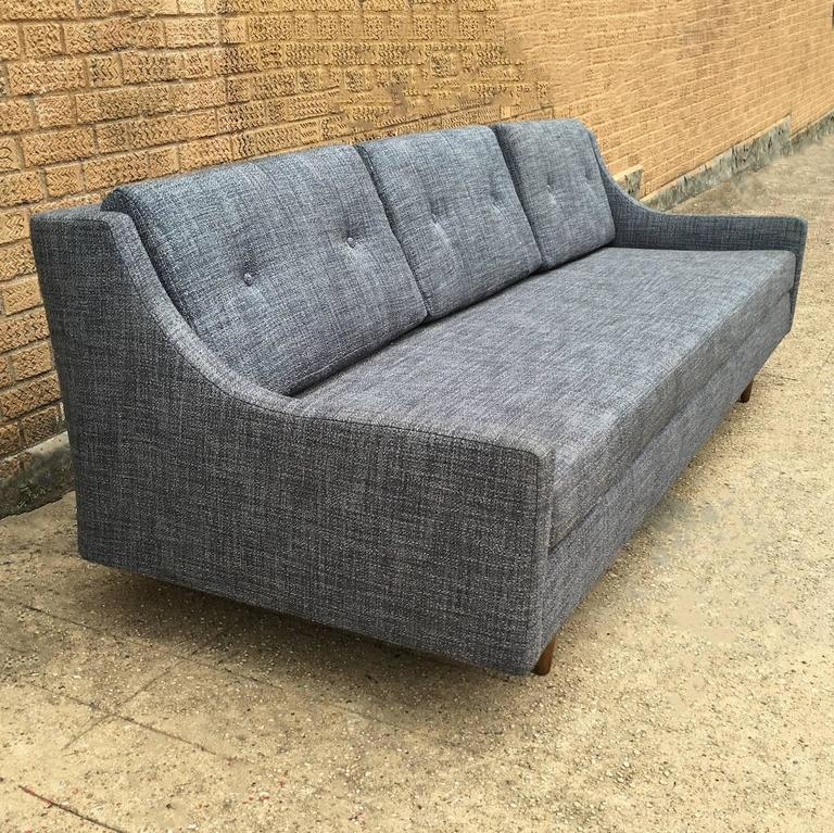 Danish Modern Upholstered Sofa by Selig In Excellent Condition For Sale In Brooklyn, NY