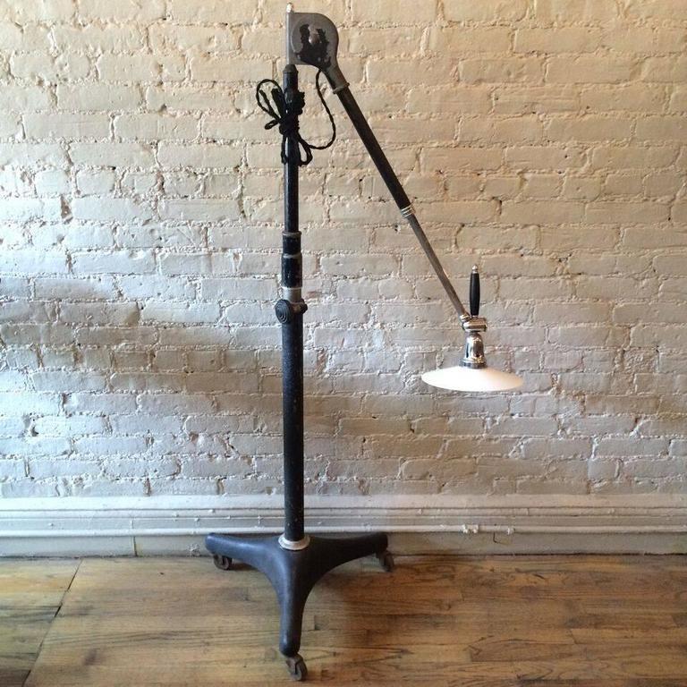 1920s Industrial Articulating Dentist Floor Lamp At 1stdibs