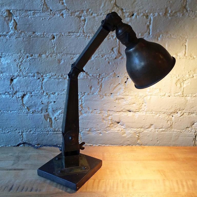 Industrial Articulating Desk Top Task Lamp 5