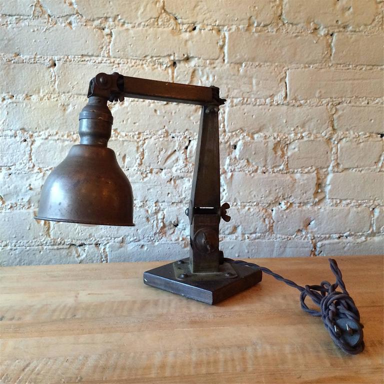 Industrial Articulating Desk Top Task Lamp 4
