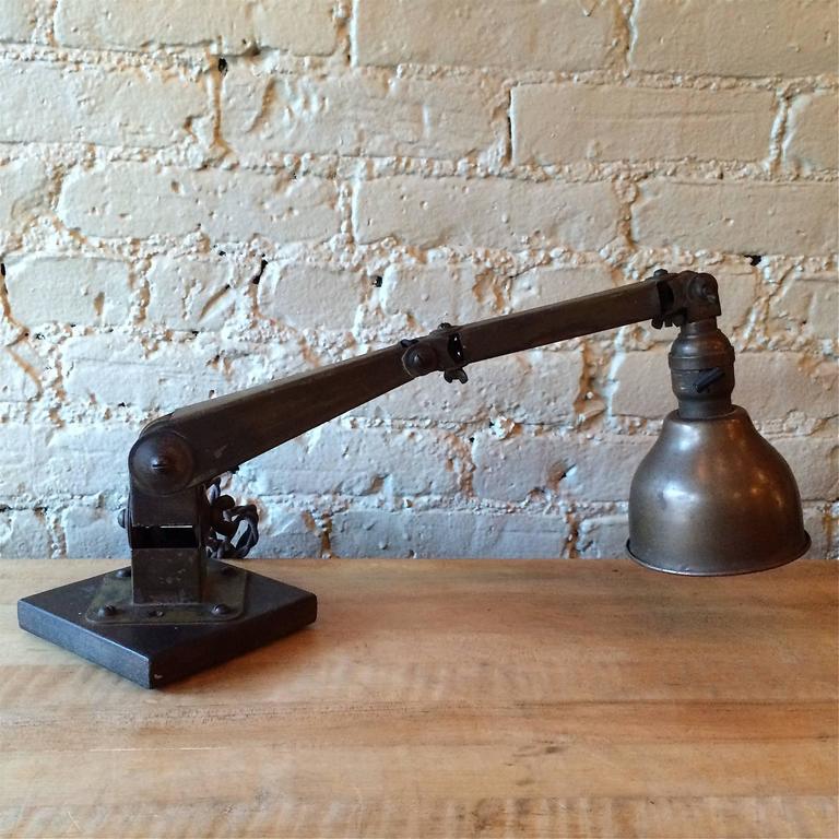 Industrial Articulating Desk Top Task Lamp 7