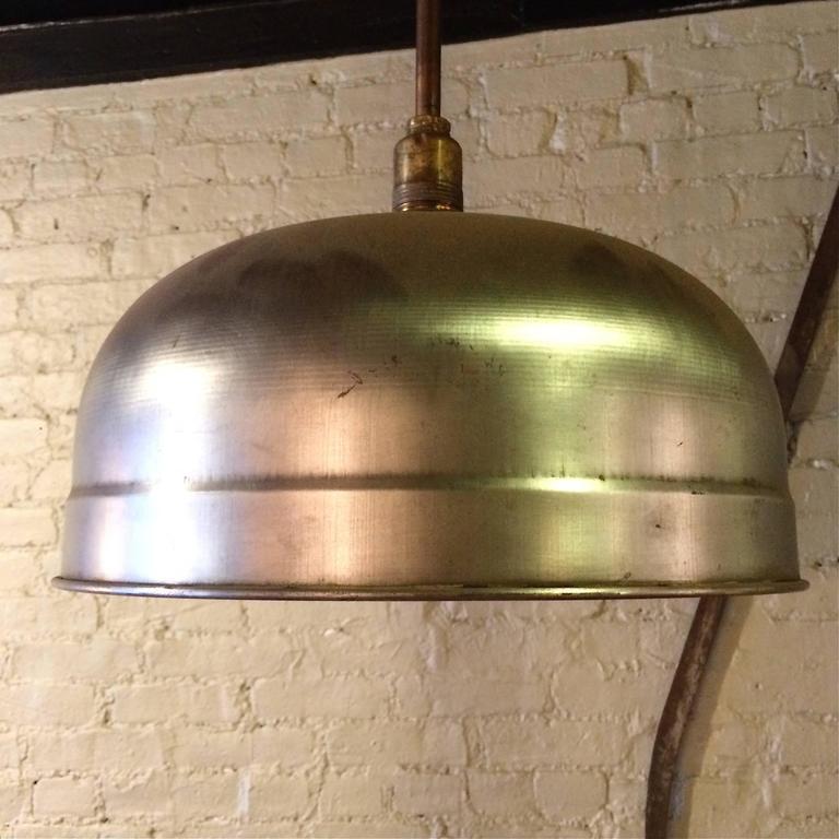 industrial brushed steel brunswick dome pendant light 3