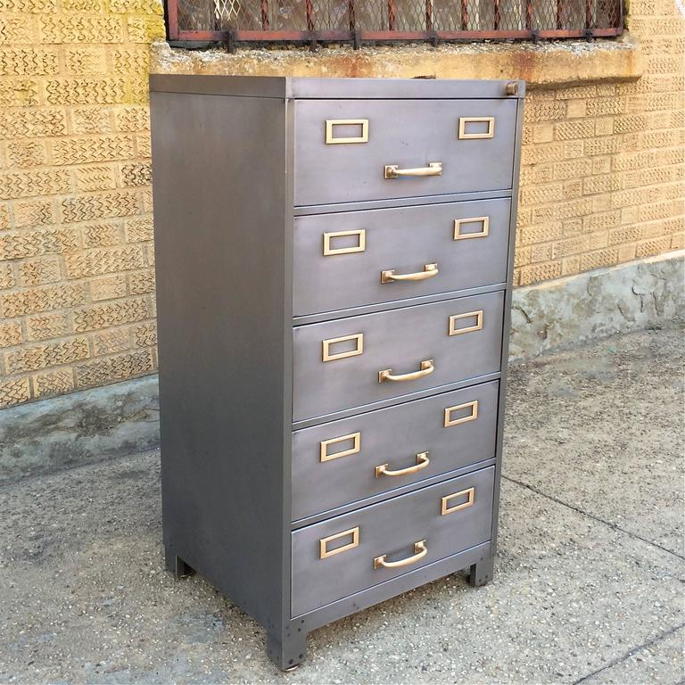 mid-century brushed steel office filing cabinets for sale at 1stdibs