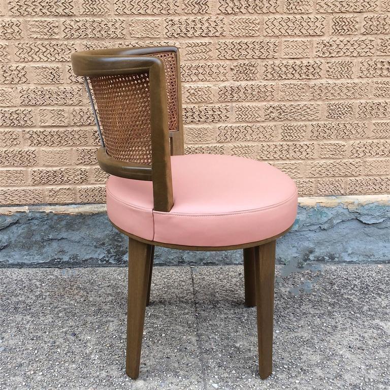 Mid-Century Modern Swivel Vanity Chair by Edward Wormley for Dunbar For Sale