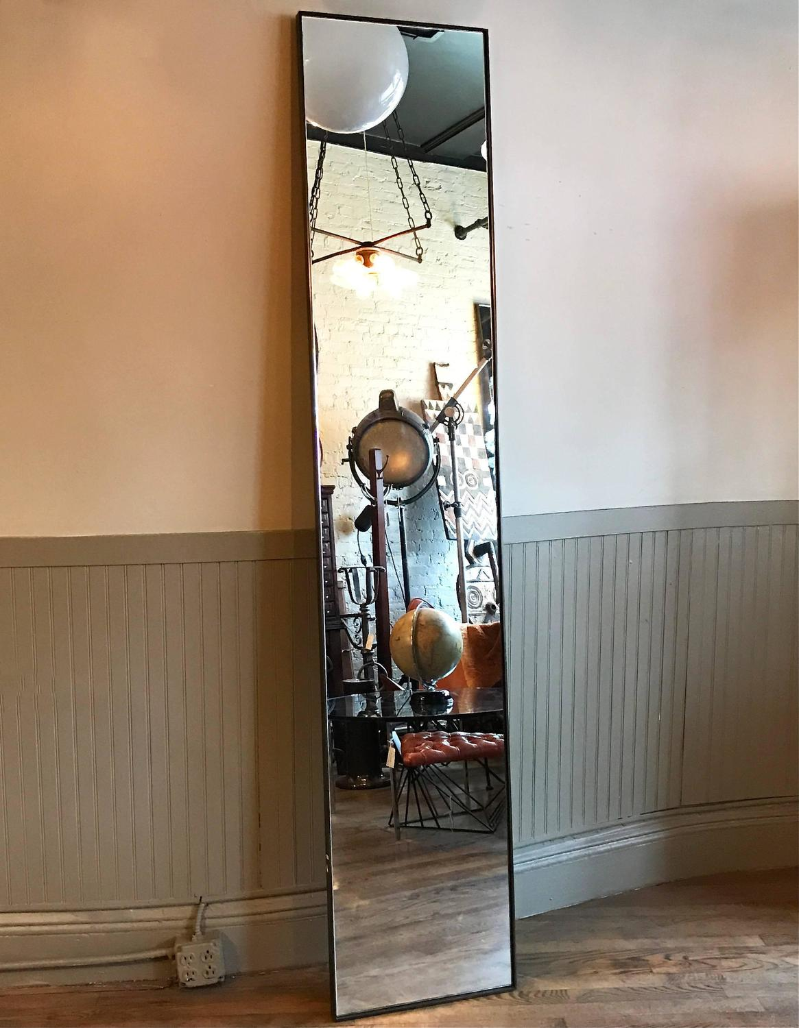 Tall slim custom steel frame full length mirrors for sale for Tall slim mirror