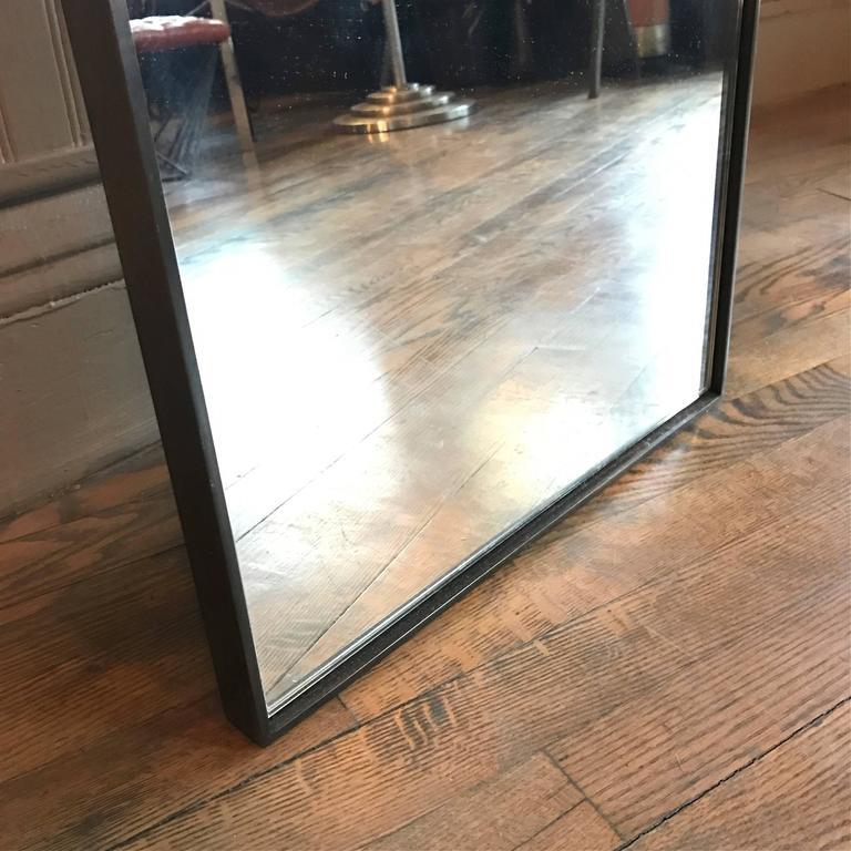 Tall Slim Custom Steel Frame Full Length Mirror at 1stdibs