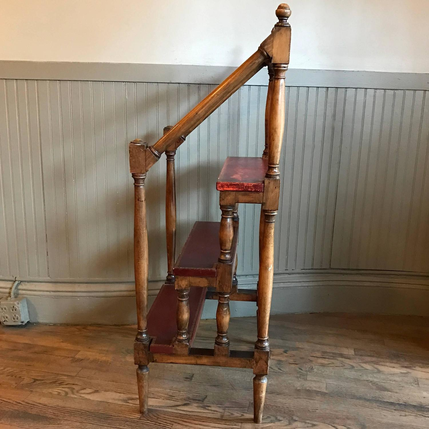 1930s Regency Style Maple Baluster Library Ladder For Sale At 1stdibs. Full resolution  pic, nominally Width 1500 Height 1500 pixels, pic with #966A35.