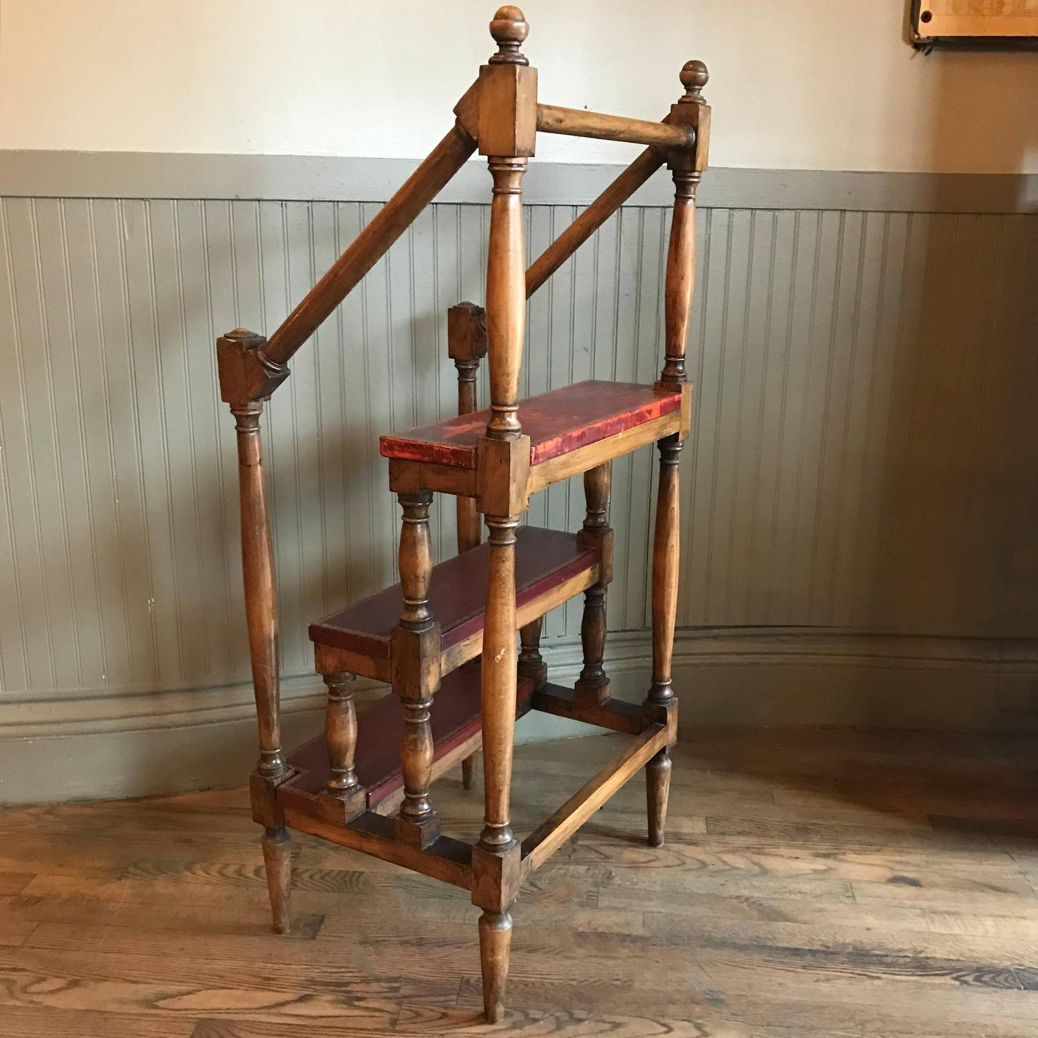 1930s Regency Style Maple Baluster Library Ladder For Sale At 1stdibs. Full resolution  pic, nominally Width 1500 Height 1500 pixels, pic with #986033.