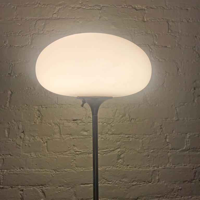 Frosted Chrome Mushroom Floor Lamp by Laurel Lamp Company