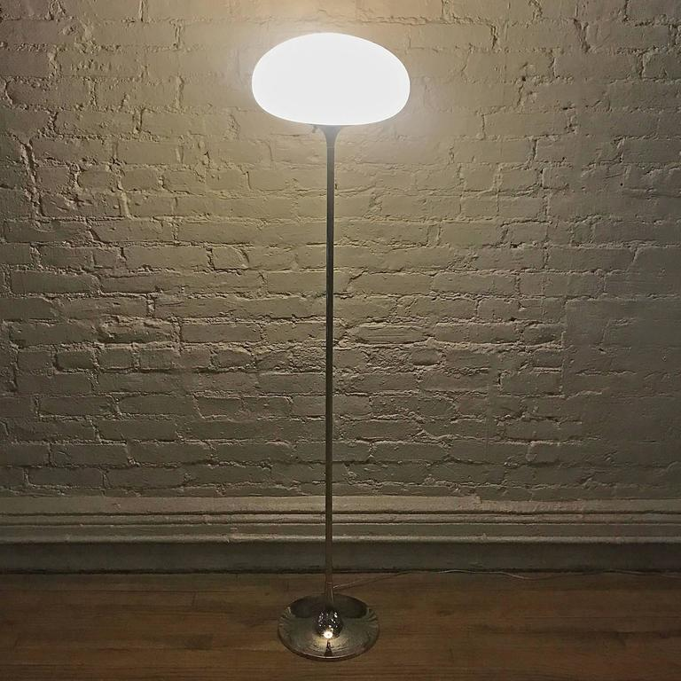 Mid-Century Modern Chrome Mushroom Floor Lamp by Laurel Lamp Company