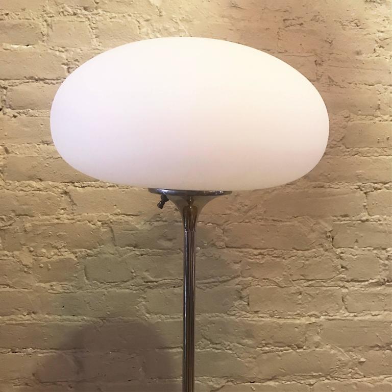 American Chrome Mushroom Floor Lamp by Laurel Lamp Company