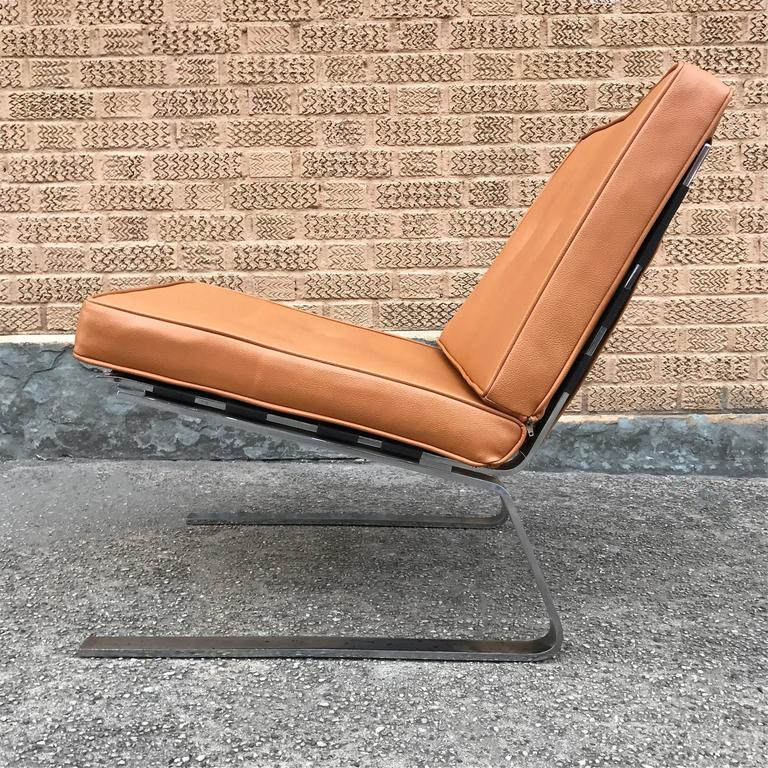 Marvelous Mid Century Modern Chrome Cantilever Lounge Chair Theyellowbook Wood Chair Design Ideas Theyellowbookinfo