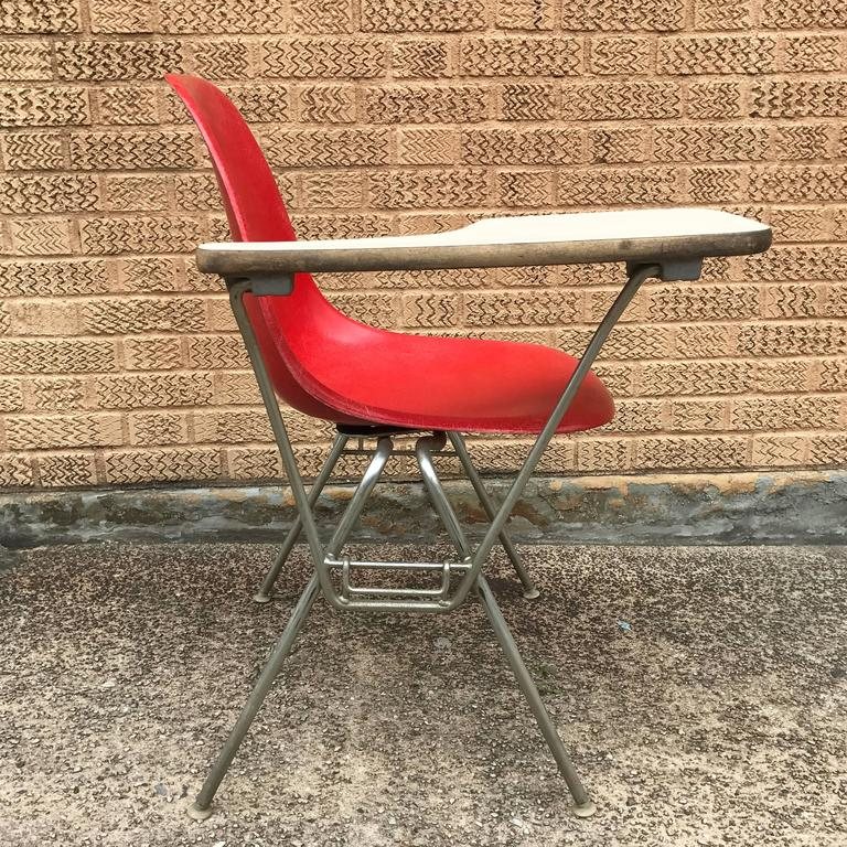 Herman Miller Eames DSS Fiberglass Side Chairs with Desk Attachments 7