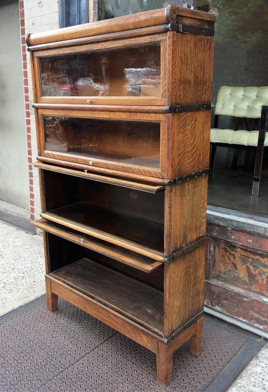 Early 20th Century Oak Barrister Case By Globe Wernicke Co