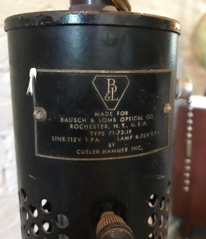 Bausch And Lomb Adjustable Gooseneck Optical Floor Lamp