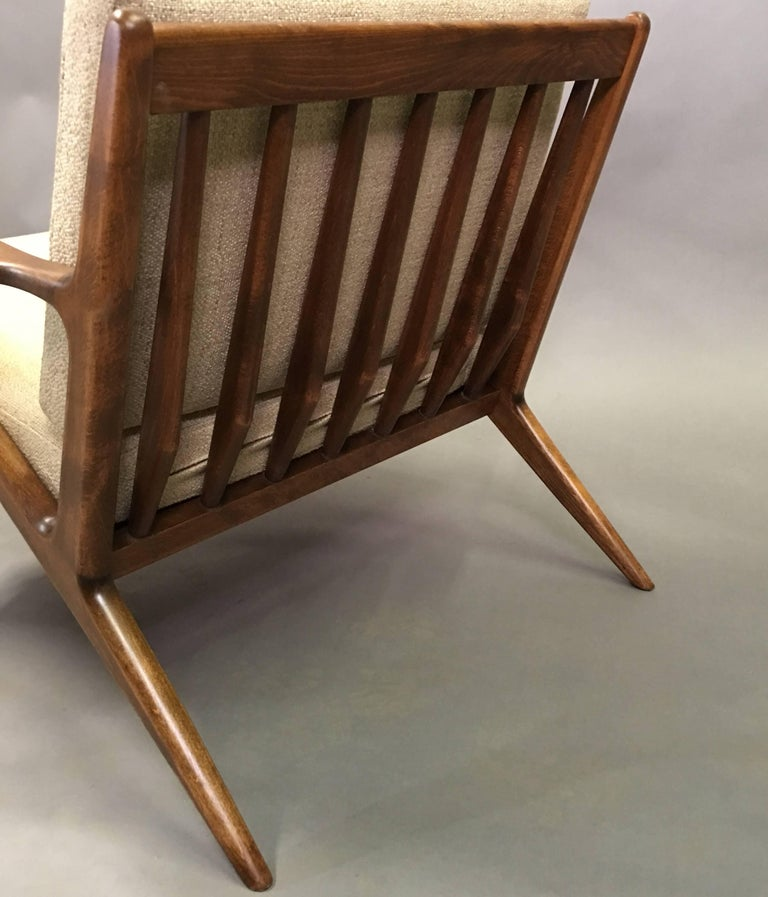 Mid Century Modern Z Chair By Poul Jensen For Selig For Sale At 1stdibs