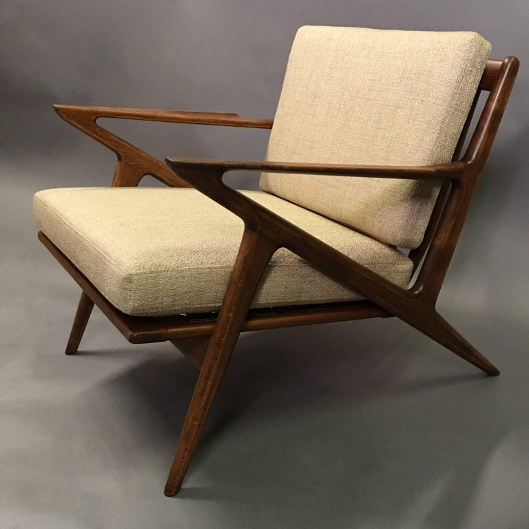 Mid century modern z chair by poul jensen for selig for sale at 1stdibs - Poul jensen z chair ...