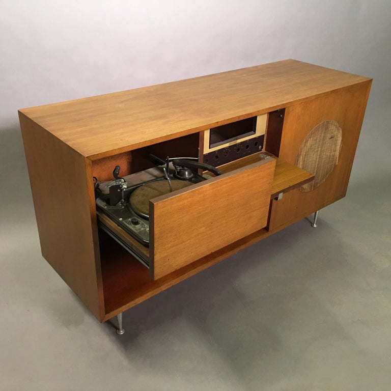 Mid Century Modern George Nelson Primavera Stereo Cabinet Console For Herman Miller Sale