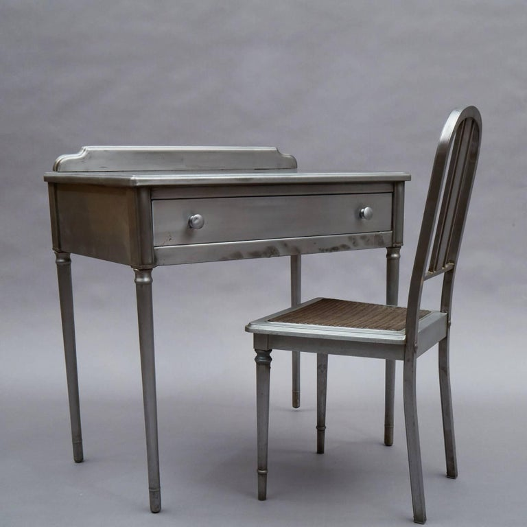 American Brushed Steel Simmons Sheraton Series Vanity Desk Set For