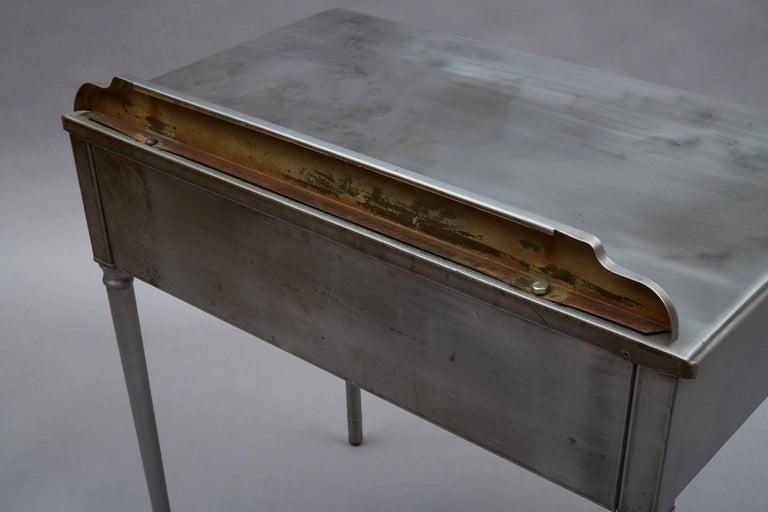 Industrial Brushed Steel Simmons Sheraton Series Vanity Desk Set For Sale 2
