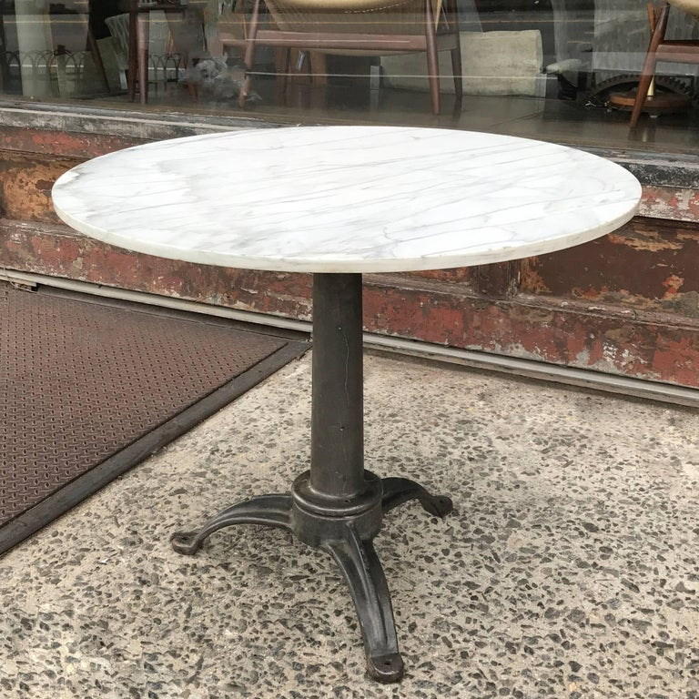 Round Marble And Cast Iron Pedestal Café Dining Table At Stdibs - Round marble cafe table