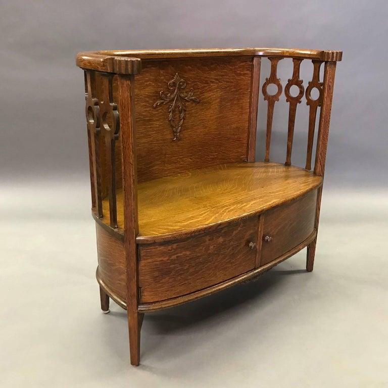 Fantastic Antique Carved Tiger Oak Entryway Settle Storage Bench Forskolin Free Trial Chair Design Images Forskolin Free Trialorg