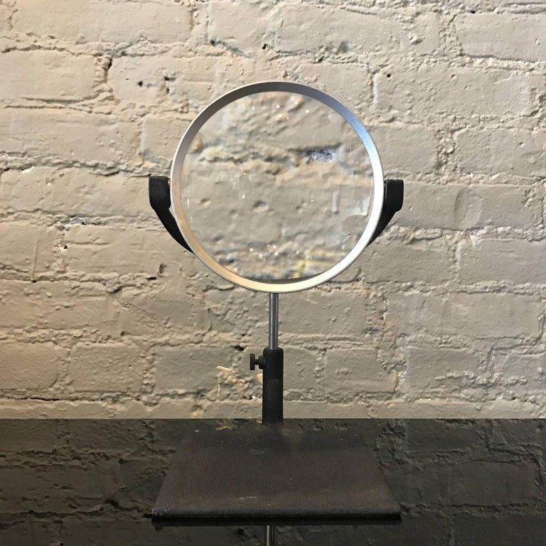 Mid-20th Century Industrial Mid Century Tabletop Magnifying Glass For Sale