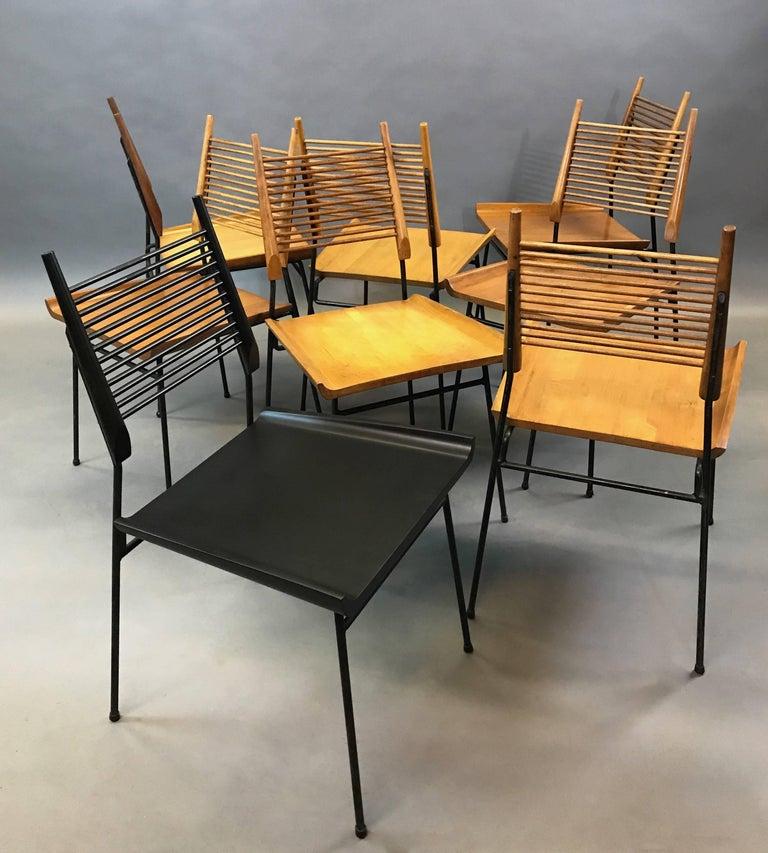 Mid-Century Modern Paul McCobb Maple Shovel Chairs For