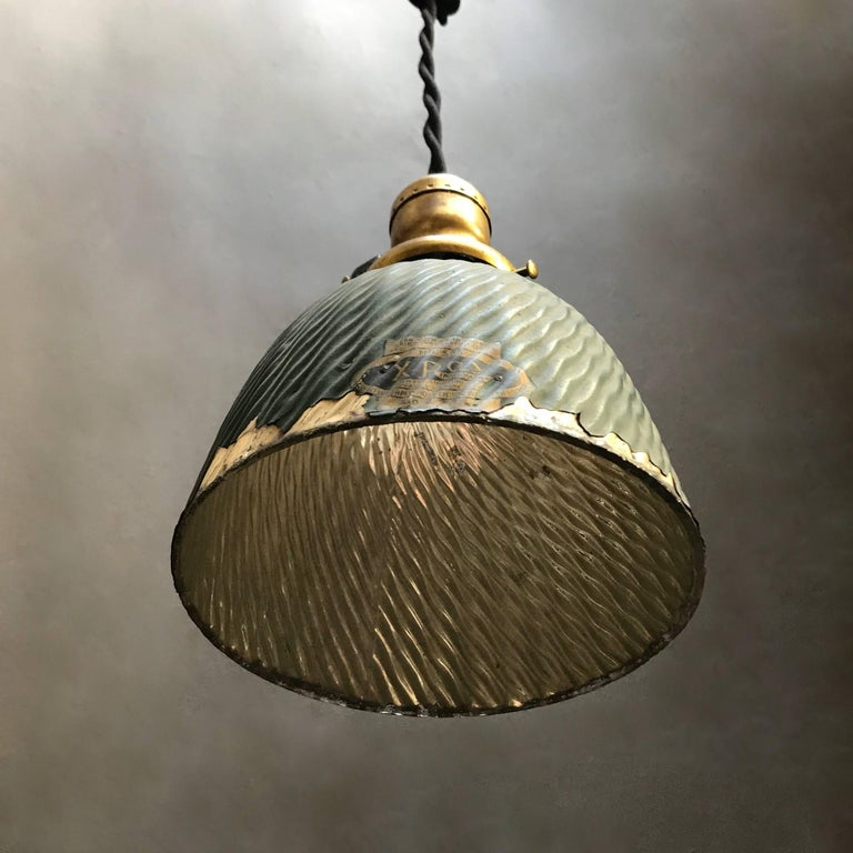 20th Century Industrial X-Ray Mercury Glass Dome Pendant Light For Sale