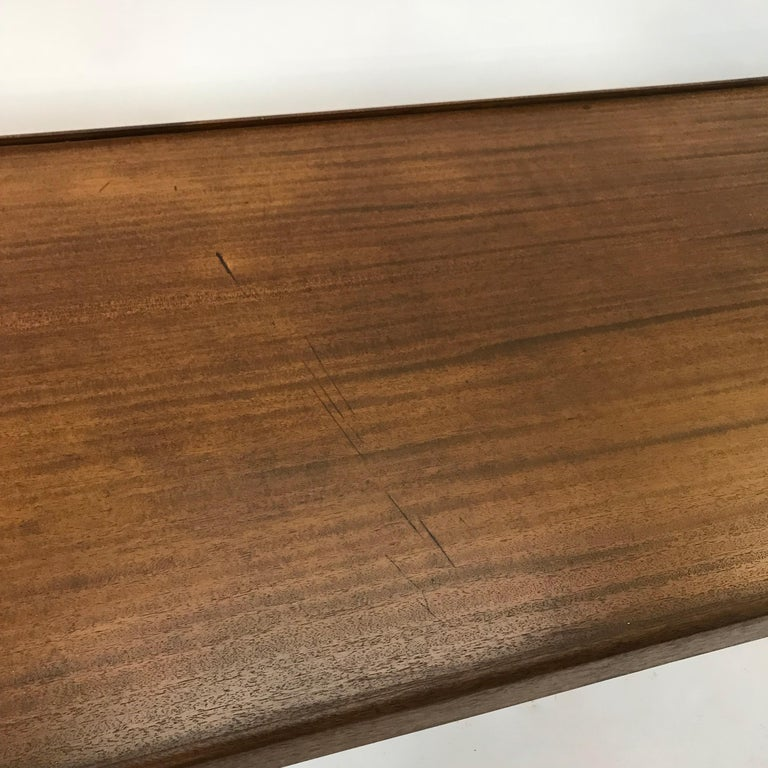 Custom Architect Mahogany Work Table Desk For Sale 1
