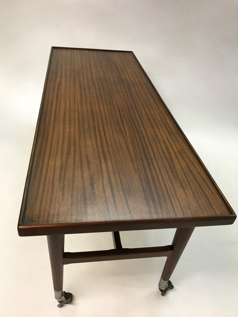 Metal Custom Architect Mahogany Work Table Desk For Sale
