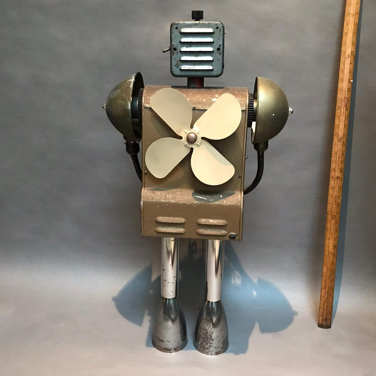 American Markel Robot Sculpture by Bennett Robot Works For Sale