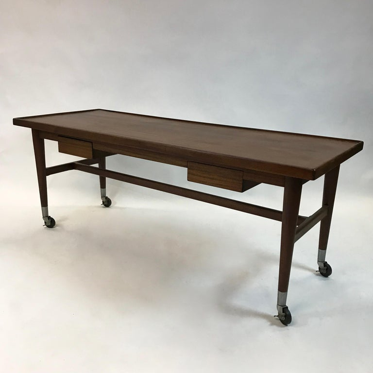 Custom Architect Mahogany Work Table Desk For Sale 3